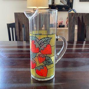 Vintage mid century strawberry cocktail pitcher